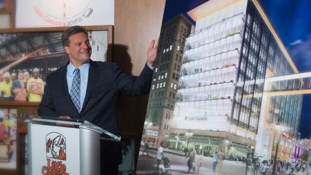 New little caesars building to highlight pizza with slice for Motor city casino little caesars