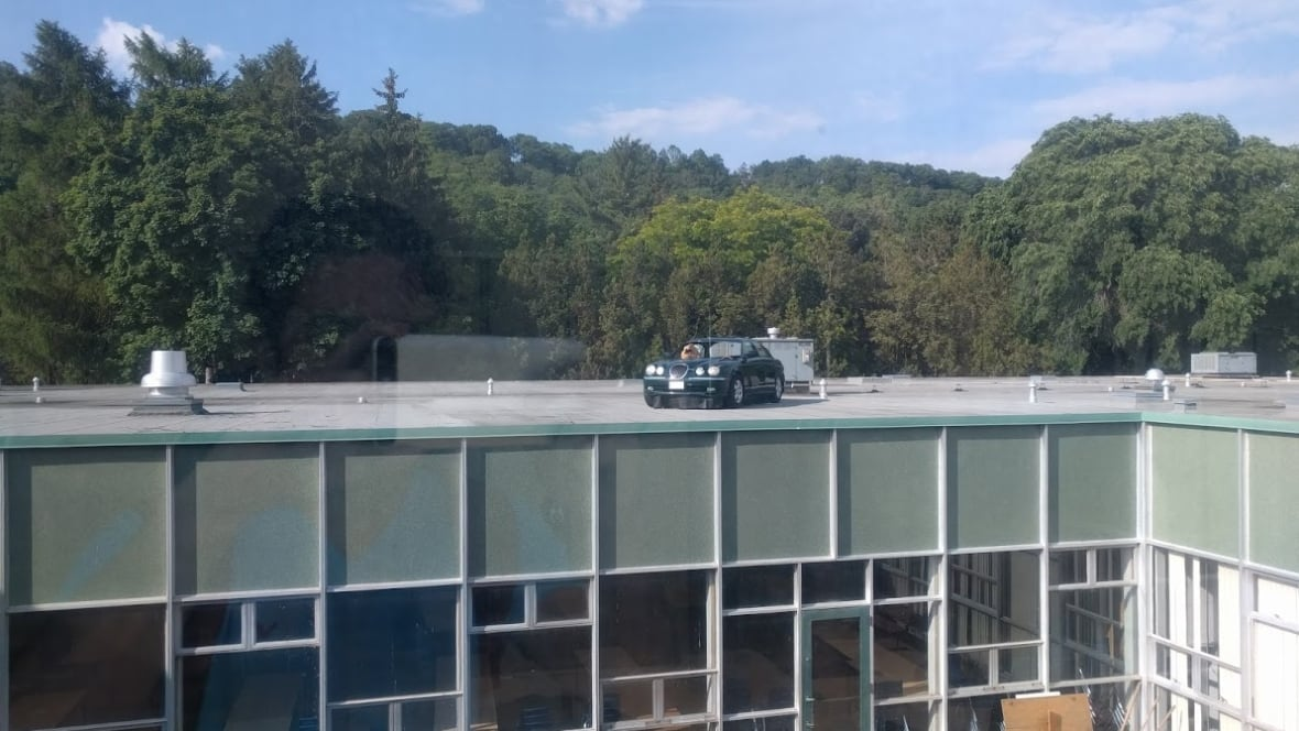 Ontario Students Put A Sports Car On School Roof As