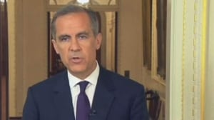 Bank of England governor tries to calm the waves