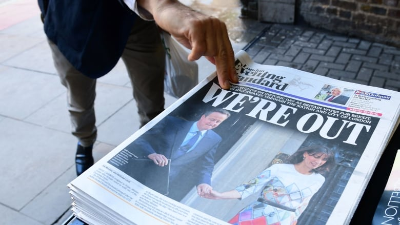 Britain-EU: Brexit London Evening Standard Cameron — June 24, 2016