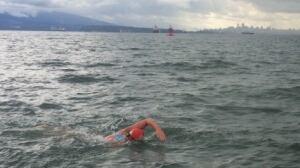 Vancouver swimmer Jessi Harewicz attempts Georgia Strait crossing