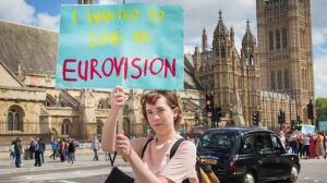 British protester
