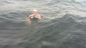 Jessi Harewicz completes Georgia Strait swim