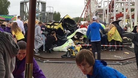 7 injured after roller coaster derails at Scottish theme park