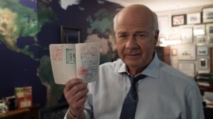 Peter Mansbridge with passport