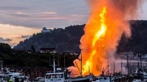 World's Tallest Bonfire