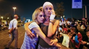 Turkey Airport Blasts: Passengers Embrace — June 29, 2016