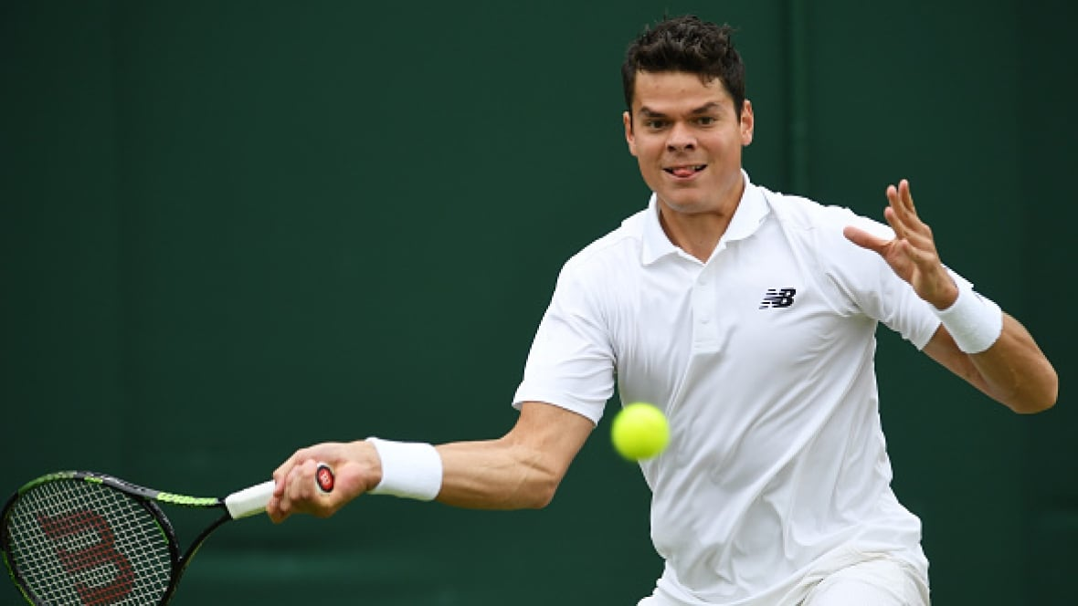 raonic on to next round eugenie bouchard exits   cbc sports   tennis