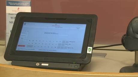 Canadian Blood Services electronic checkin