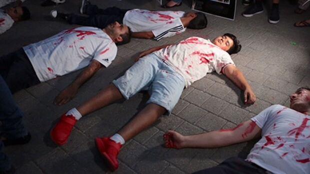 Toronto Baghdad Vigil Die-in