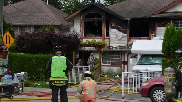Woman severely burned in suspicious house fire in Port Moody, B.C.