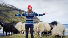 Faroe Island sheep and Durita Andreassen