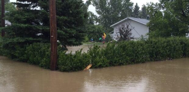 Water rises in Arborfield, Saskatchewan