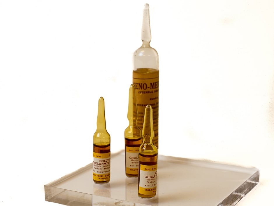 Glass ampoules containing injectable TB medication