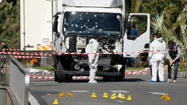EUROPE ATTACKS NICE Investigators truck attack Bastille Day