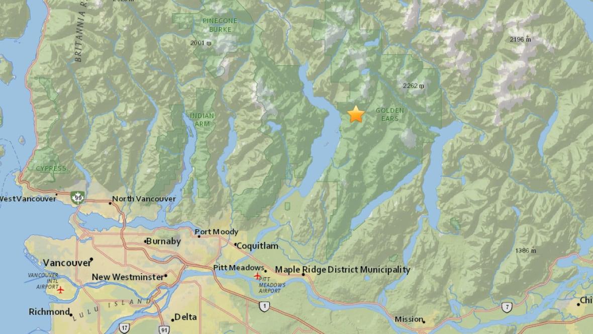 3.2-magnitude earthquake hits near Pitt Lake B.C ...