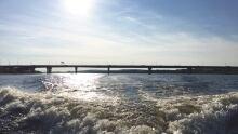 Saint John river Fredericton sun