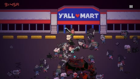 Death Road to Canada an indie game take on The Walking Dead, with Mounties and Elvis