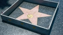 Wall around Donald Trump's Walk of Fame star