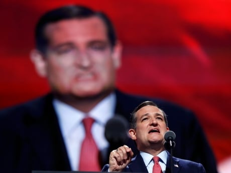 Texas Senator Ted Cruz, Trump's former rival in the nomination race, drew an ovation when he spoke at the convention Wednesday, but cheers quickly turned to boos when he did not explicitly endorse the nominee.