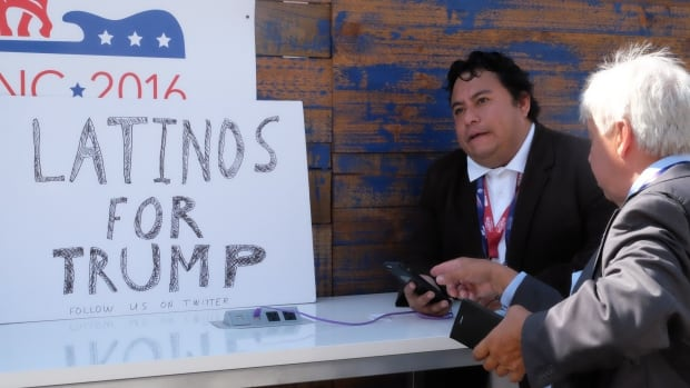 Marco Gutierrez, a member of Latinos for Trump, says his internet-based group has 20,000 members.
