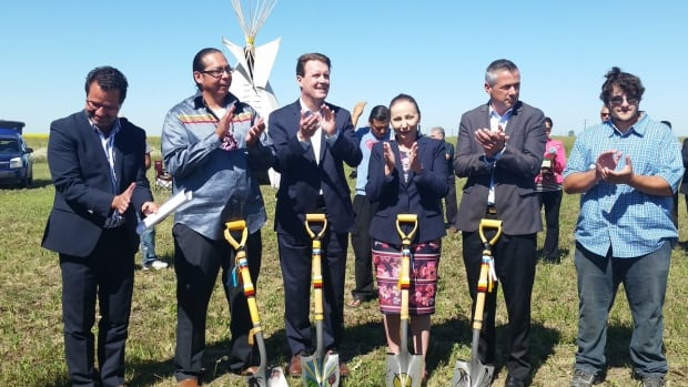 Development ground breaking at Sakimay First Nations