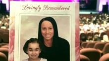 Sara Baillie Taliyah Marsman card at memorial funeral