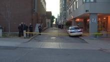 toronto police at princess street stabbing