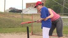 emanuelle and marie josee baseball