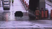 cars flooding montreal