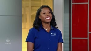 Perdita Felicien talks with John Northcott on CBCNN