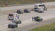 407 bus vintage car crash