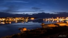 Twillingate Harbour at night