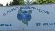 St. George's Blueberry festival sign