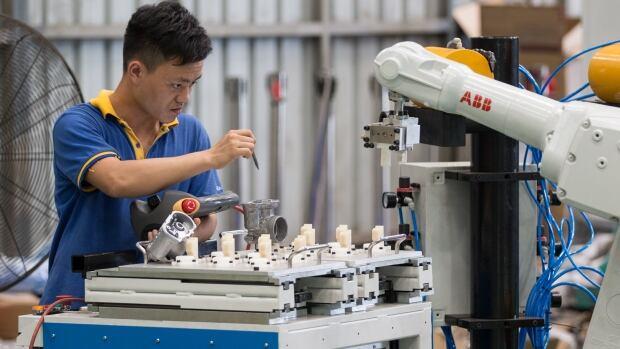 China robots work technology