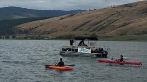 Marathon swimmer completes 105 km crossing of Okanagan Lake