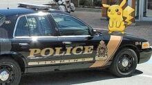 Timmins police cruiser with Pokemon