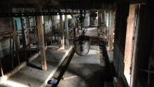 inside Cache Bay barn
