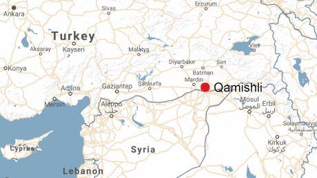 Qamishli syria map