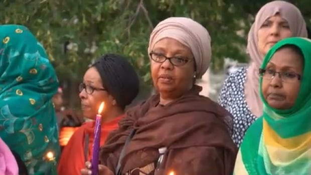 Hundreds of people attended the public memorial, which took place at Somerset Square Park Tuesday evening.