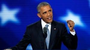 Barack Obama addresses Democratic convention