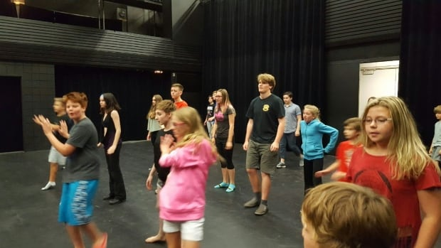 Campers at the Stage One theatre class