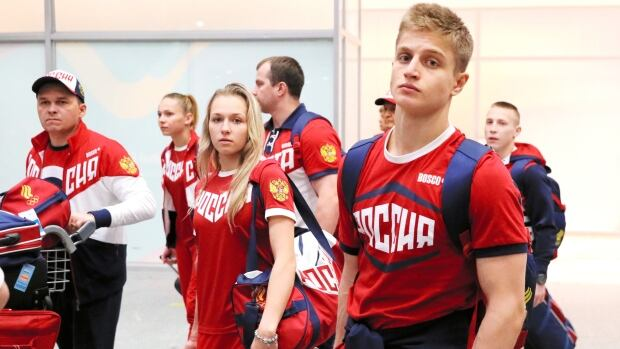 Russian Olympic gymnasts arrive in Rio July 24 2016