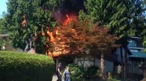 3 fires underway in Coquitlam
