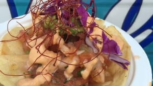 Vallarta shrimp tostadas