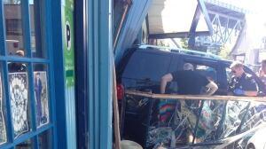 Vehicle slams into Granville Island Cafe