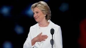 Hillary Clinton accepts Democratic nod with historic speech met with tears, pride