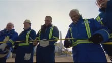 Wall cuts ribbon for Husky Energy project