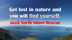 North Shore Rescue gets cheeky with hike safety post