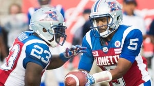 Alouettes throttle Roughriders with complete team performance on Ben Cahoon's special night